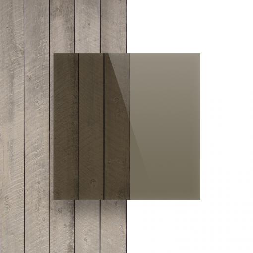 Vorseite Acrylglas Platte getoent braun