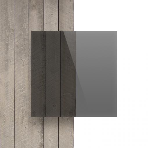 Vorseite Acrylglas Platte getoent grau