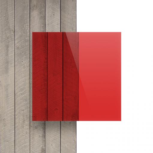 Vorseite Acrylglas Platte getoent rot