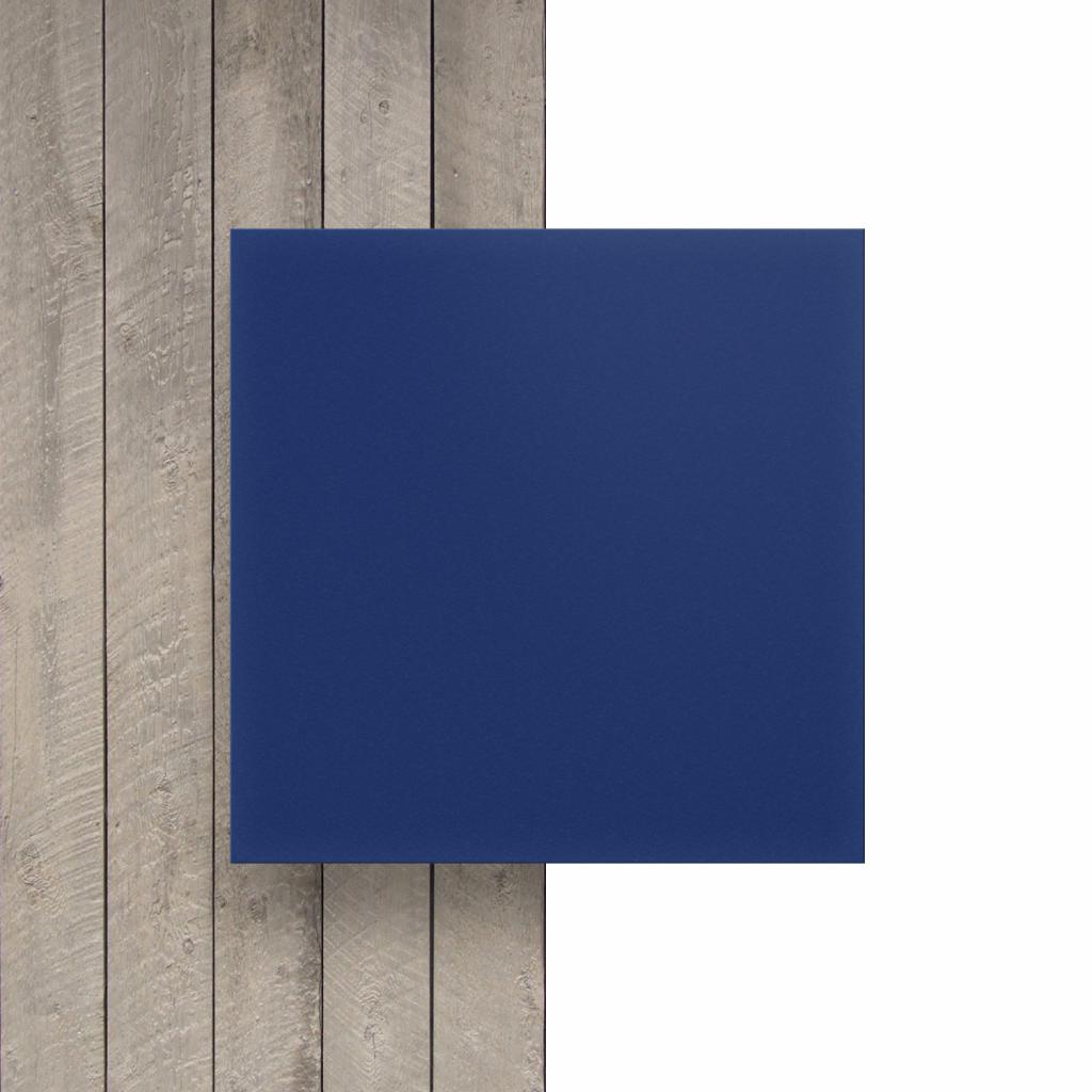 Vorseite PVC Hartschaumplatte blau