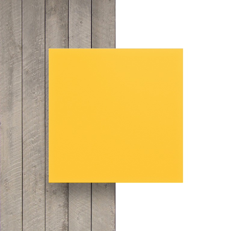 Vorseite PVC Hartschaumplatte gelb