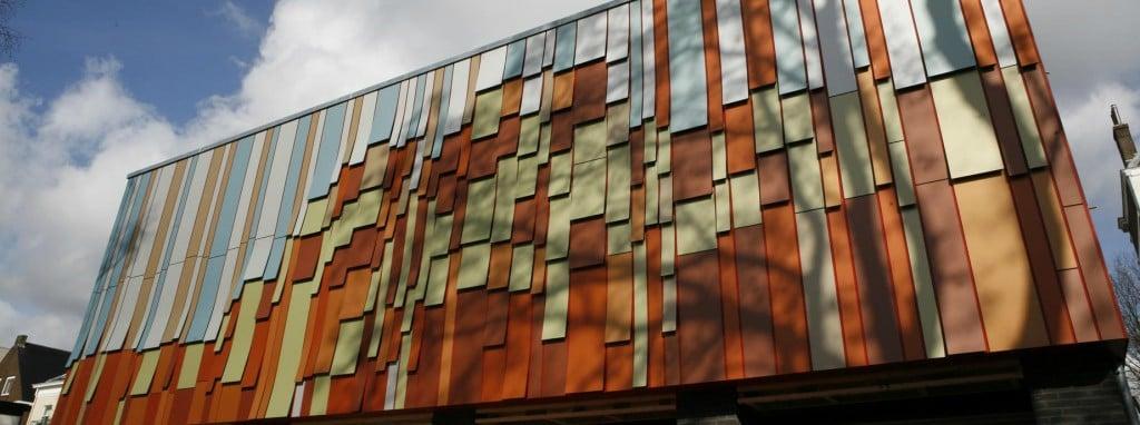 trespa fassade-Fassadenverkleidung HEMA Oosterbeek (Warenhaus in den Niederlanden)1