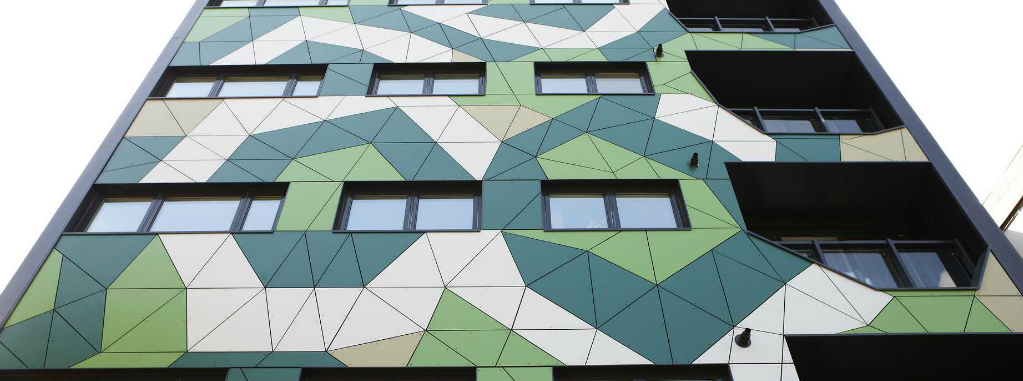 trespa fassade-Fassadenverkleidung New Kent Road, London (UK)1