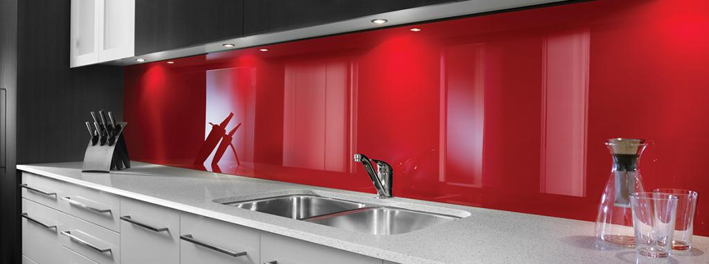 küchenrückwand plexiglas rot