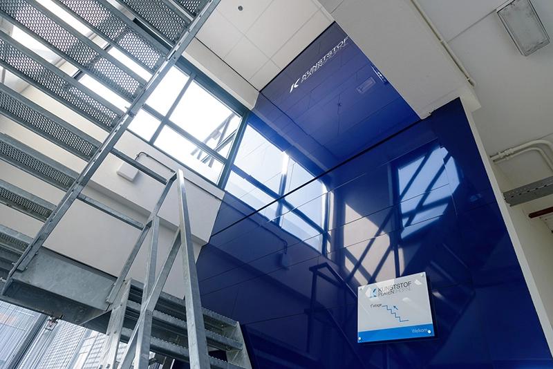Alu Verbundplatten verwenden in der Halle