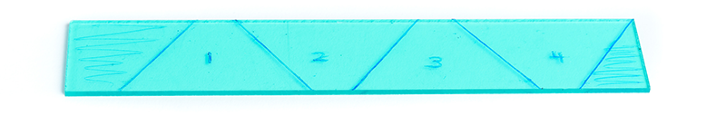 Hologramm selber machen Acrylglas teilen