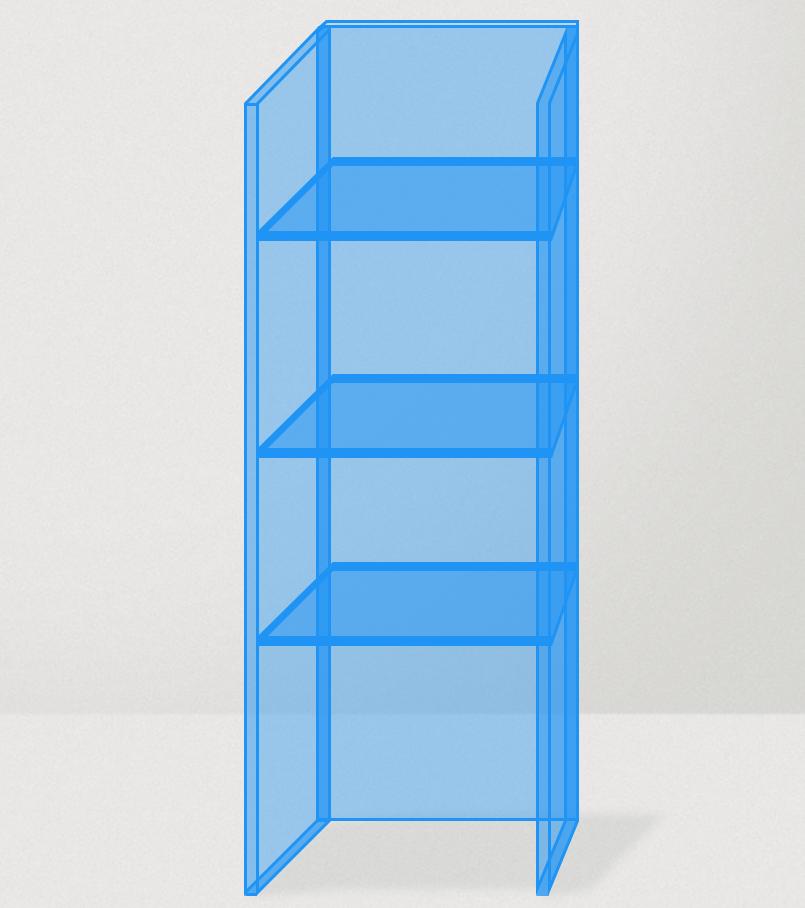 Plexiglas vitrine