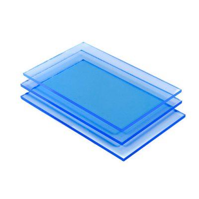 Acrylglas Platte blau fluoreszierend detail