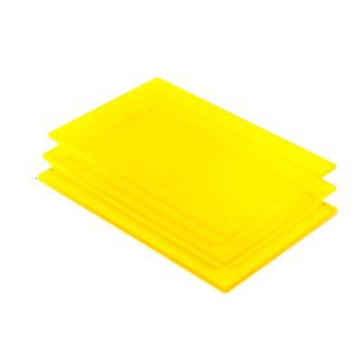 Acrylglas Platte gelb fluoreszierend