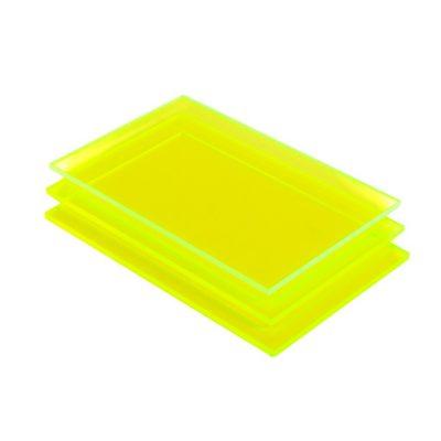 Acrylglas Platte grün fluoreszierend