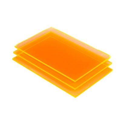 Acrylglas Platte orange fluoreszierend