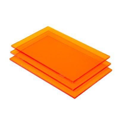 Acrylglas Platte rot fluoreszierend