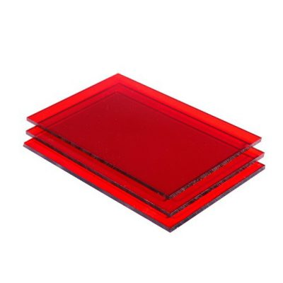 Acrylglas Platte getönt rot