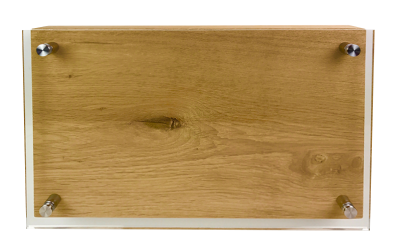 Messerblock Acrylglas und Holz