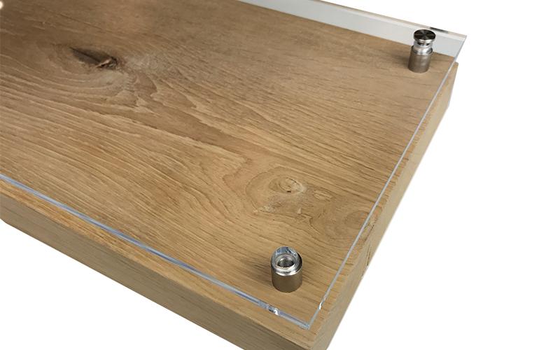 Messerblock aus Acrylglas und Holz montieren