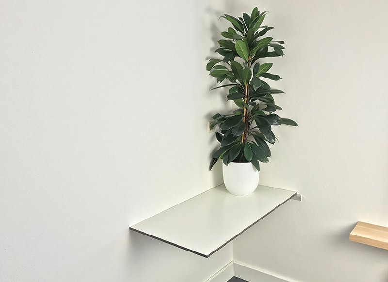 Schreibtisch mit HPL Tischplatte selbst bauen
