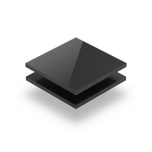 Acrylglas Platte anthrazit glänzend