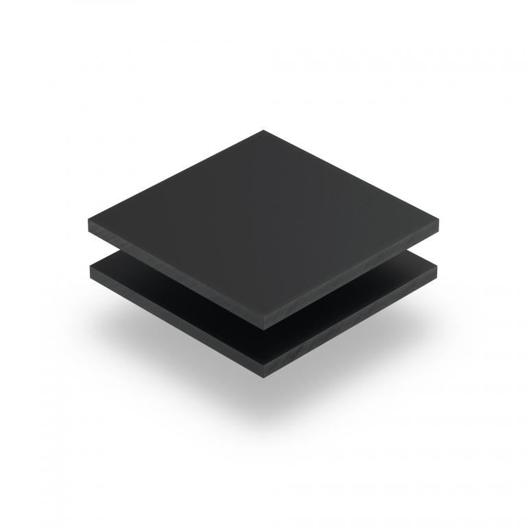 Acrylglas Platte anthrazit matt