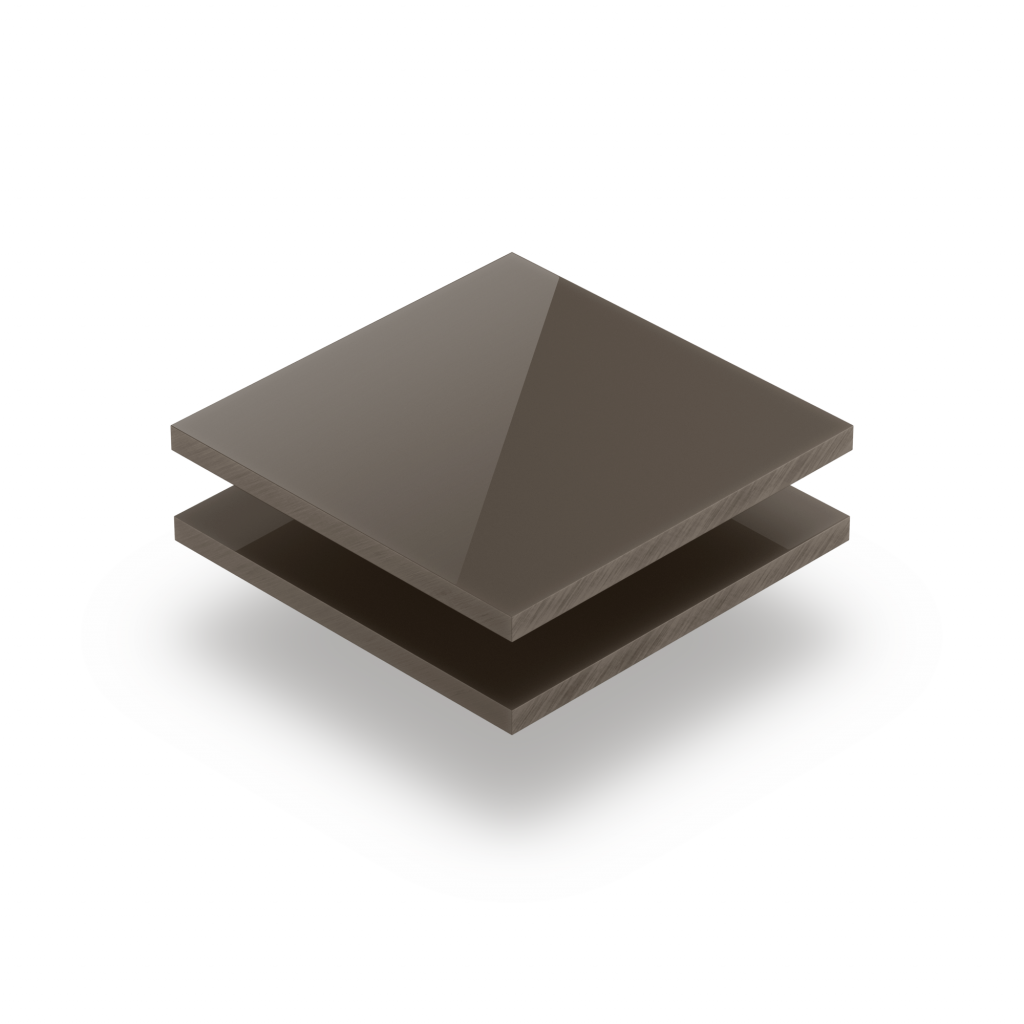 Acrylglas Platte beigegrau glänzend
