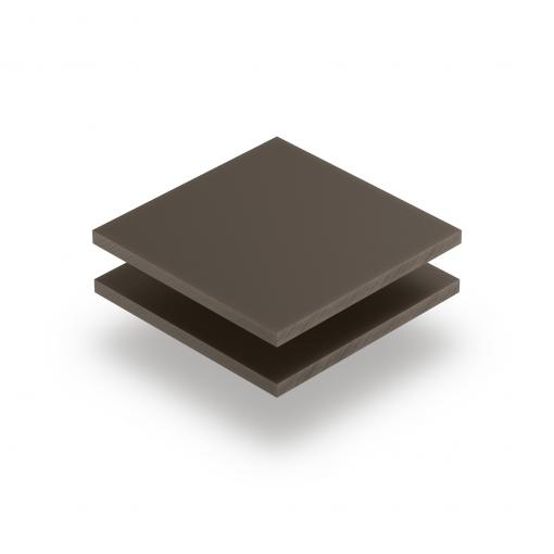 Acrylglas Platte beigegrau matt