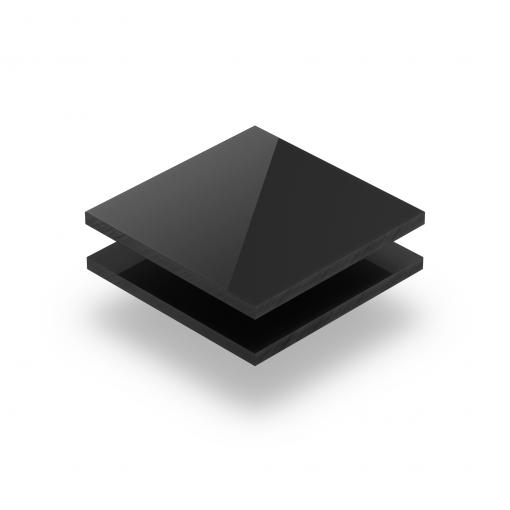 Acrylglas Platte ebony glänzend