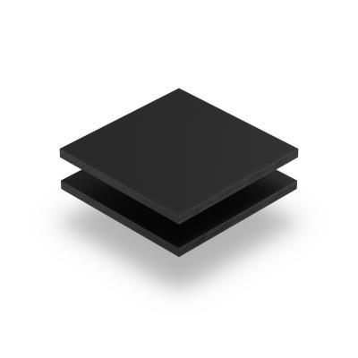 Acrylglas Platte ebony matt