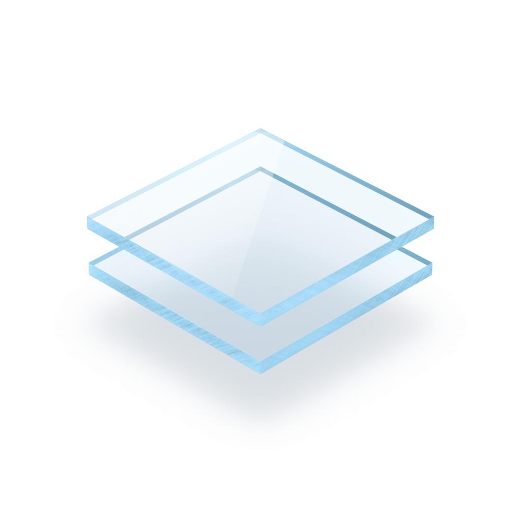 Acrylglas Platte fluoreszierend blau