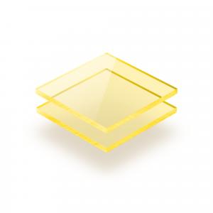 Acrylglas Platte fluoreszierend gelb