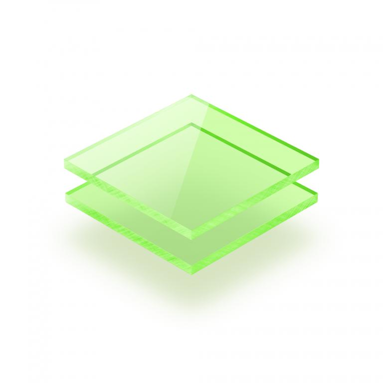 Acrylglas Platte fluoreszierend grün