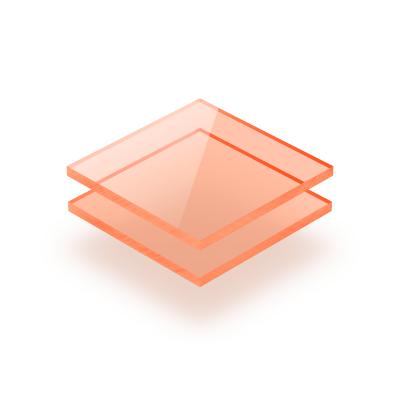 Acrylglas Platte fluoreszierend orange