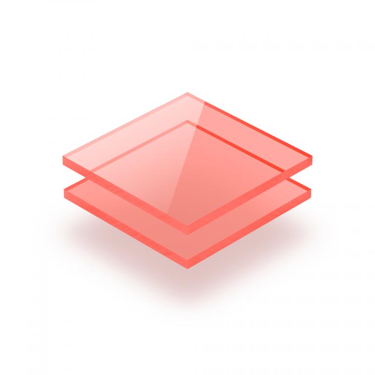 Acrylglas Platte fluoreszierend rot