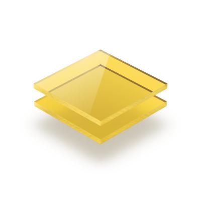 Acrylglas Platte getönt gelb