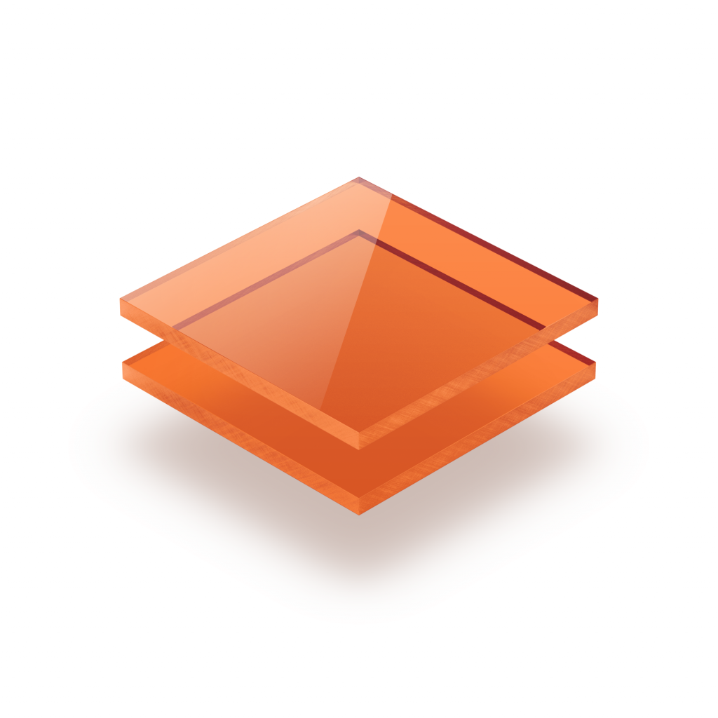 Acrylglas Platte getönt orange