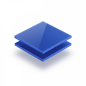 Acrylglas Platte opal blau