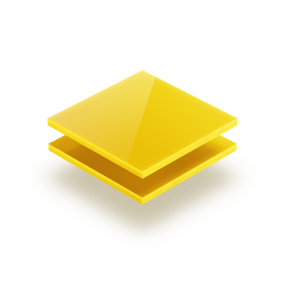 Acrylglas Platte opal gelb