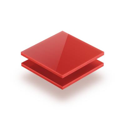Acrylglas Platte opal rot