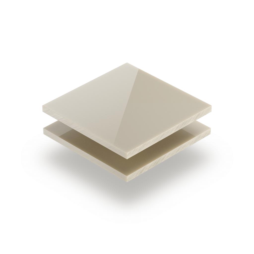 Acrylglas Platte perlweiß glänzend