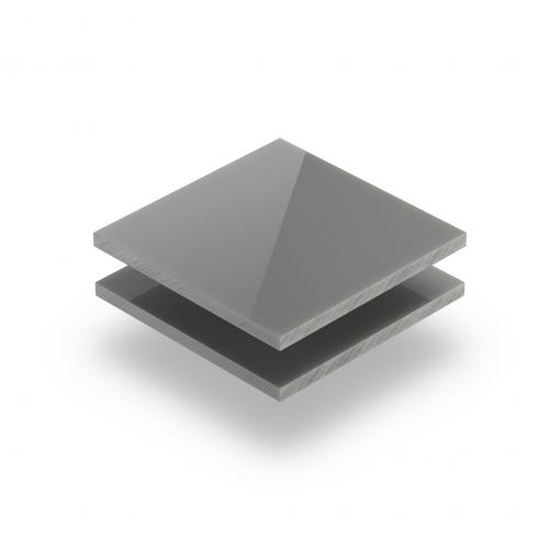 Acrylglas Platte platingrau glänzend