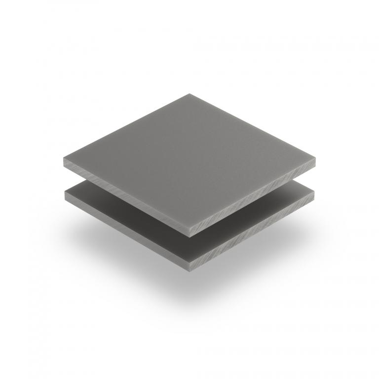 Acrylglas Platte platingrau matt