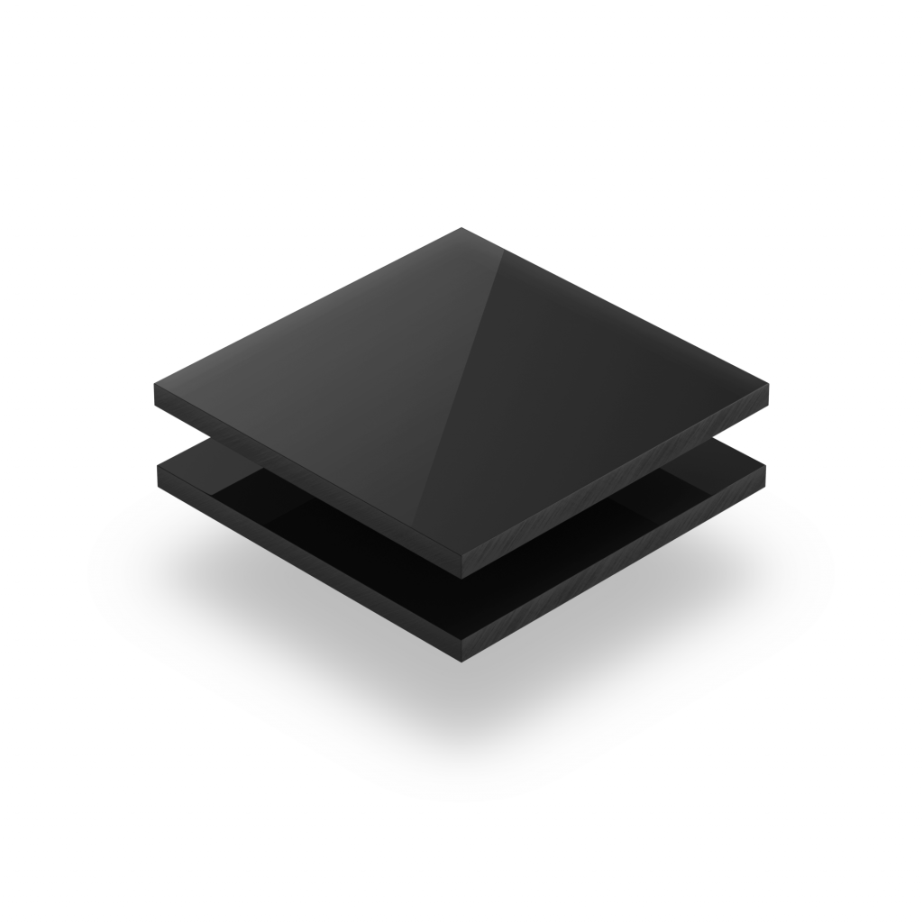 Acrylglas Platte schwarz