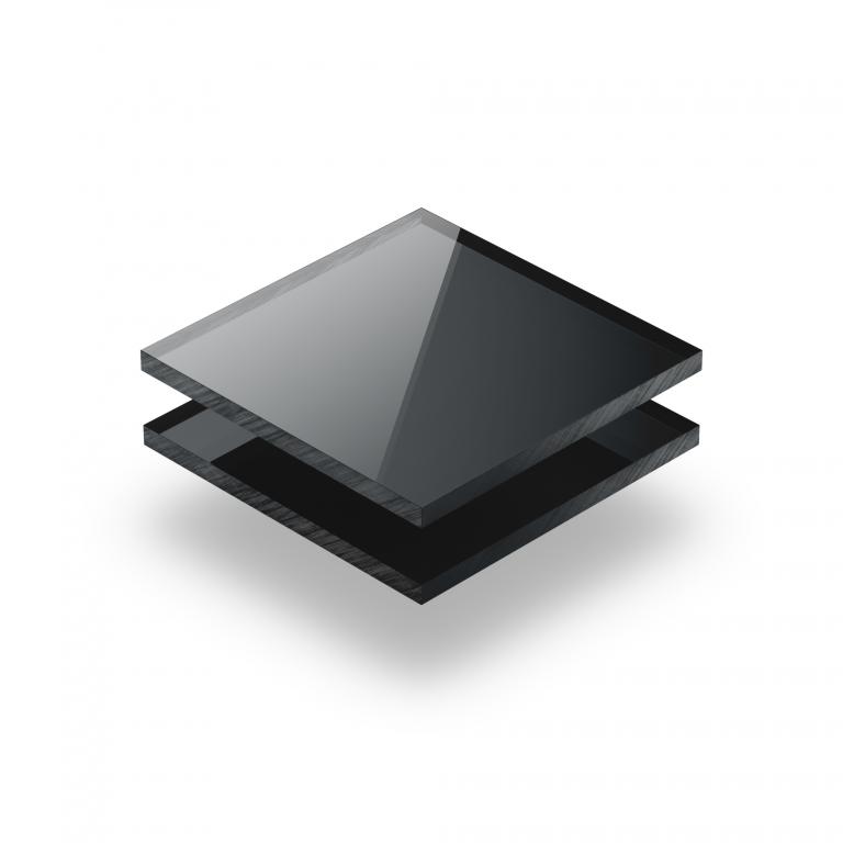Acrylglas Platte spiegel anthrazit
