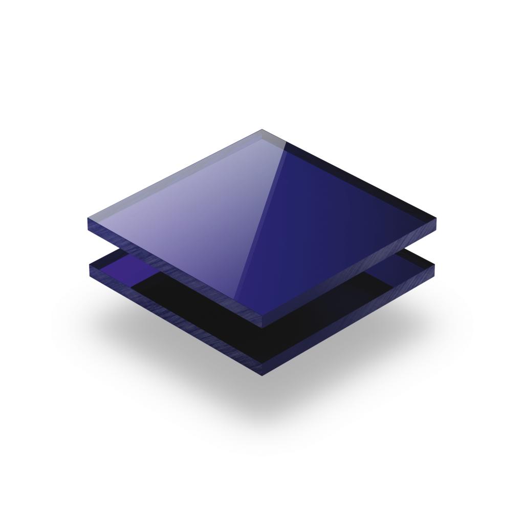 Acrylglas Platte spiegel blau