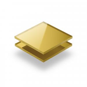 Acrylglas Platte spiegel gold