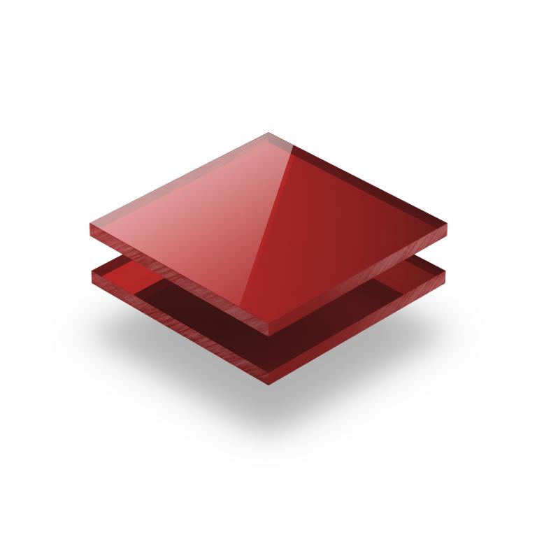 Acrylglas Platte spiegel rot