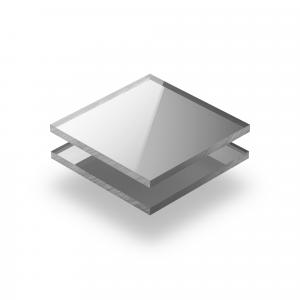 Acrylglas Platte spiegel silber