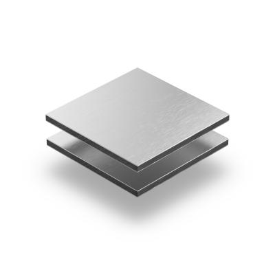Aluminium Verbundplatte aluminium gebürstet