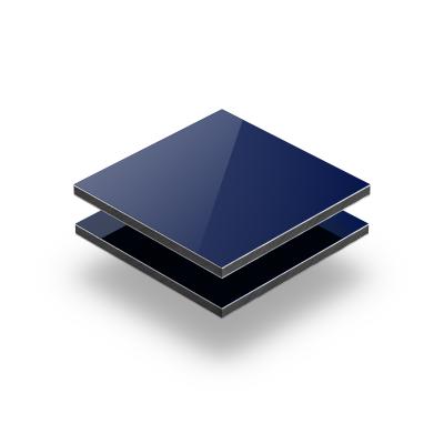 Aluminium Verbundplatte blau