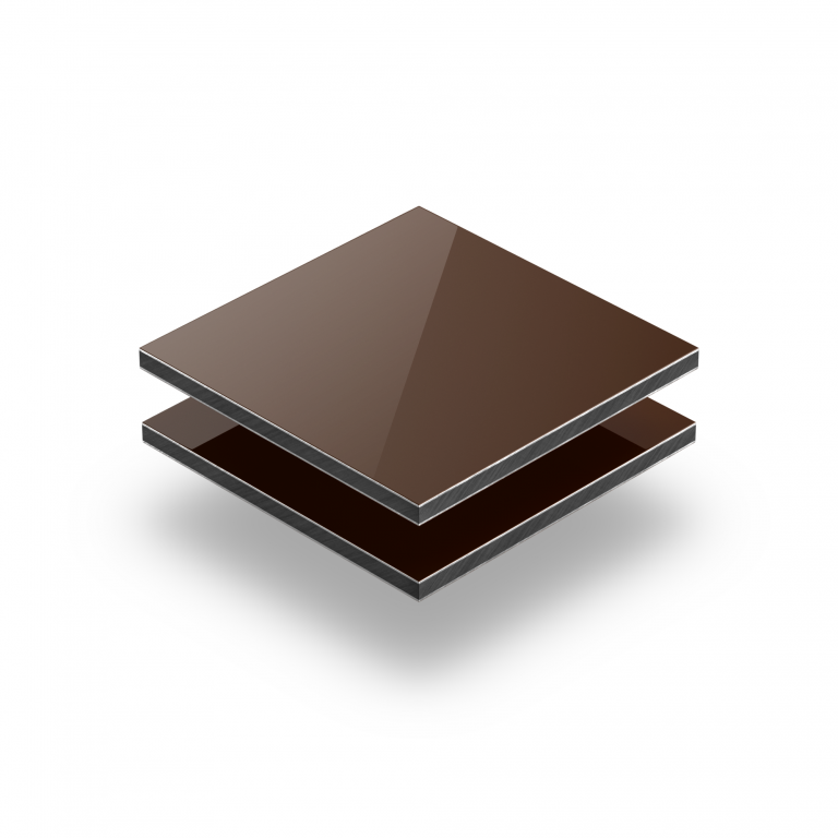 Aluminium Verbundplatte braun