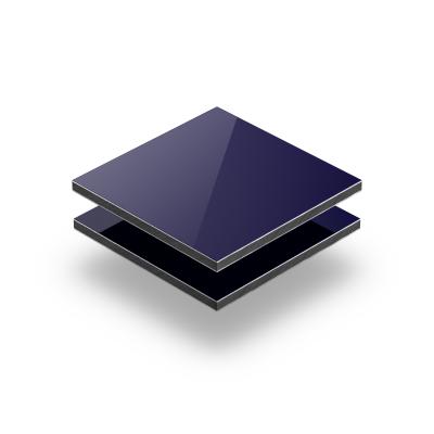Aluminium Verbundplatte dunkelblau