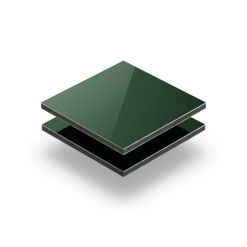 Aluminium Verbundplatte dunkelgrün